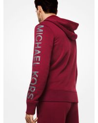 Michael Kors | Red Logo Cotton-blend Zip-up Hoodie for Men | Lyst