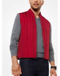 Michael Kors - Red 3-in-1 Tech Track Jacket for Men - Lyst