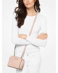 Michael Kors Pink Selma Mini Saffiano Leather Crossbody