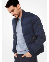Michael Kors - Blue Quilted-nylon Bomber Jacket for Men - Lyst