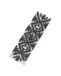 Mignonne Gavigan | Black Ikat Bracelet White | Lyst