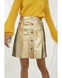MiH Jeans - Metallic Byall Skirt - Lyst