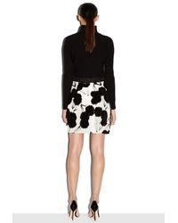 MILLY - Black Exclusive Couture Poppy Fil Coupe Modern Mini Skirt - Lyst