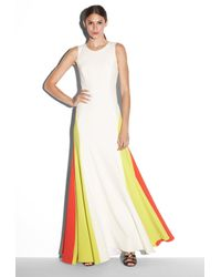 MILLY - White Colorblock Gown - Lyst