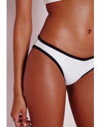 Missguided - Black Colour Block Bikini Bottoms Monochrome - Mix & Match - Lyst
