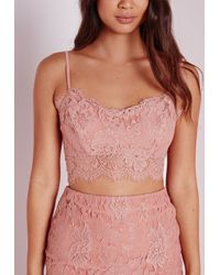 Missguided - Pink Neilina Bralet Rose - Lyst