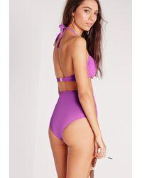 Missguided - Underwired Push Up Bikini Top Purple - Mix & Match - Lyst