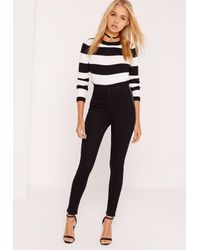 Missguided | Lawless High Waisted Jeggings Black | Lyst