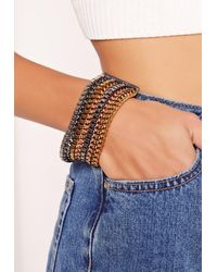 Missguided - Multicolor Mixed Metal Chain Cuff - Lyst