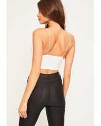 Missguided - Slinky Bralettete White - Lyst