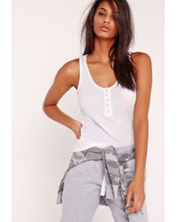 Missguided | Popper Front Vest White | Lyst