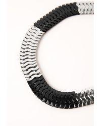 Missguided   Block Colour Metal Choker Necklace Black   Lyst