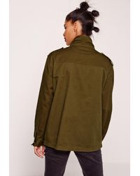 Missguided - Multicolor Military Utility Jacket Khaki - Lyst