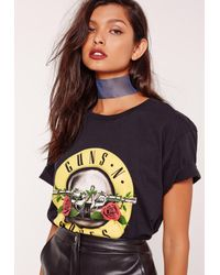 Missguided | Blue Wide Organza Choker Necklace Navy | Lyst
