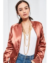 Missguided | Metallic Gold Layered Chain Necklace | Lyst