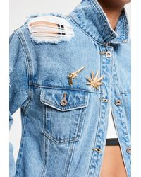 Missguided - Multicolor Golden Badass Pin Badge Set - Lyst