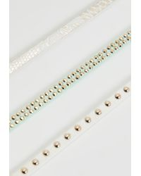 Missguided | Multicolor Set Of 3 Thin Faux Leather Choker Necklaces | Lyst
