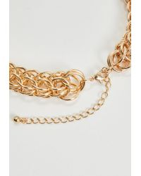 Missguided - Metallic Gold Chunky Chain Necklace - Lyst
