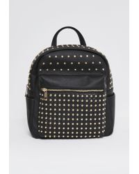 Missguided - Premium Metal Stud Backpack Black - Lyst