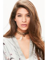 Missguided | Multicolor 4 Pack Delicate Choker Necklace Set | Lyst