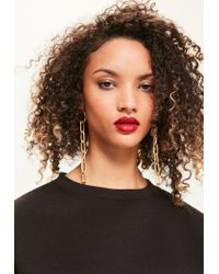 Missguided | Metallic Gold Chain Drop Earrings | Lyst