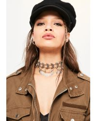 Missguided | Metallic Gold Moon Detail Choker Necklace | Lyst