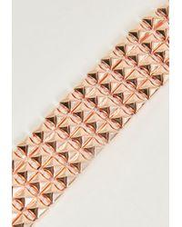 Missguided | Pink Rose Gold Studded Detail Bracelet | Lyst