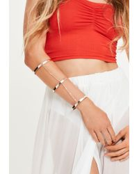 Missguided - Multicolor Rose Gold Chain Layered Full Arm Cuff - Lyst