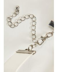 Missguided | White Ornate Clasp White Choker Necklace | Lyst