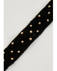Missguided - Peace + Love Black Plain Stud Choker Necklace - Lyst