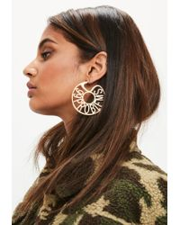 Missguided | Metallic Gold 99 Problems Hoop Earrings | Lyst