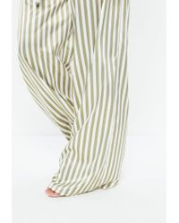 Missguided - Tall Green Stripe Wide Leg Pants - Lyst