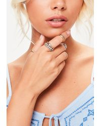 Missguided - Metallic Gold And Silver Mix Set Rings - Lyst