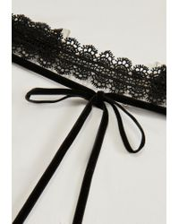 Missguided | Black Lace Choker Necklace | Lyst