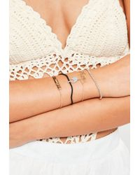 Missguided | White Delicate Bracelet Pack | Lyst