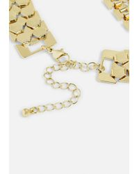 Missguided - Metallic Gold Statement Necklace - Lyst