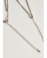 Missguided - Metallic Silver Heavy Chain Necklace - Lyst