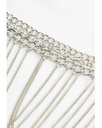 Missguided - Metallic Silver Chain Necklace - Lyst