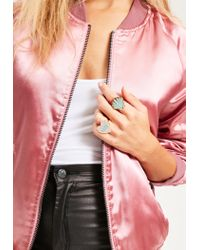 Missguided - Multicolor Shell & Babe Power Statement Ring Set - Lyst