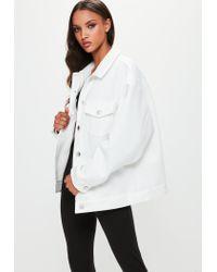 Missguided - Londunn + White Scuba Jacket - Lyst