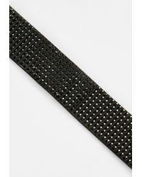 Missguided - Black Diamante Choker Necklace - Lyst