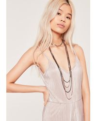 Missguided | Multicolor Mixed Metal Layered Choker Multi | Lyst