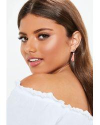 Missguided - Metallic Silver Look 3 Pack Peach Tassel Earrings - Lyst