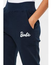 Missguided - Blue Barbie X Navy Barbie Joggers - Lyst