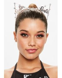 Missguided - Pink Barbie X Rose Gold Cat Ear Head Band - Lyst