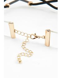 Missguided - Multicolor Clear Lattice Choker Necklace - Lyst