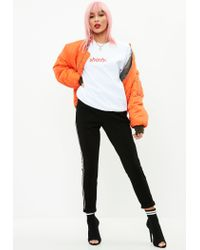 Missguided White Shady Slogan Sweatshirt