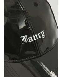 Missguided - Black Vinyl Fancy Cap for Men - Lyst