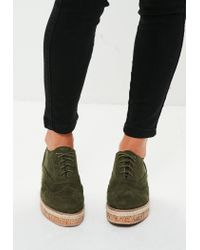 Missguided - Multicolor Khaki Lace Up Shoes for Men - Lyst