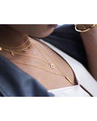 Missoma - Multicolor Aqua Chalcedony March Birthstone Necklace - Lyst